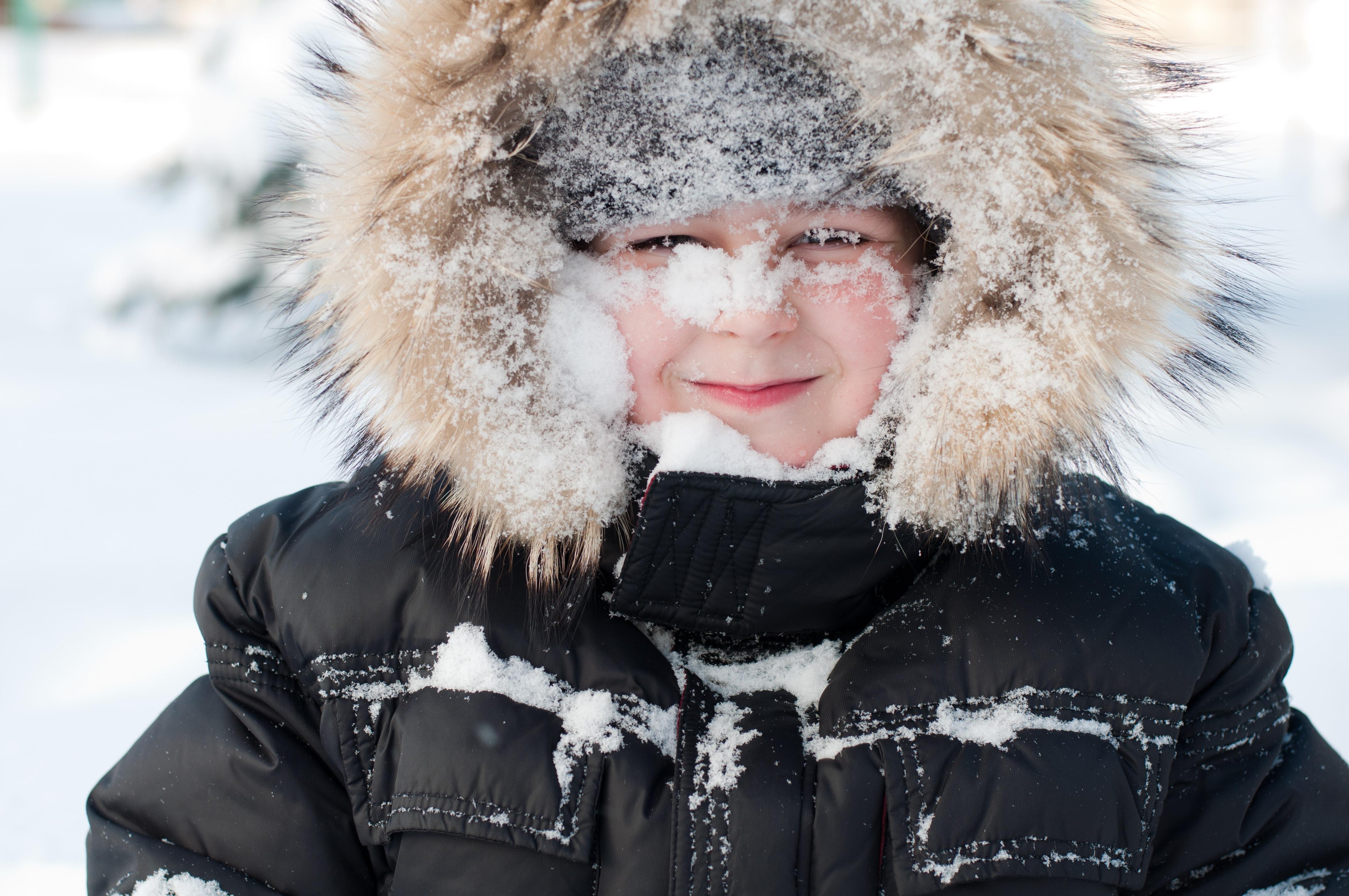 Снег на лице 21 фотография