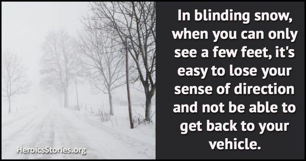 Blinding snow